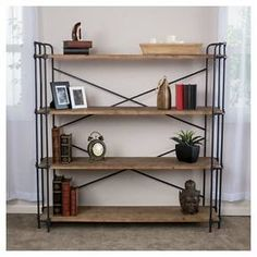 Yorktown 4-Shelf Industrial Bookcase - Brown, Christopher Knight Home : Target
