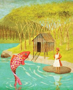 Illustration for The Fish Prince published by McGraw Hill - 2008    http://www.jagoillustration.com