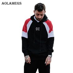 Hoodies & Sweatshirts Aolamegs Aolamegs Hoodies Men Hit Color Snake Embroidery Hoody Pullover High Street Fashion Hip Hop Streetwear Sweatshirts Hoodie Autumn  #Hoodies & Sweatshirts #Aolamegs #daily_post #Hot_deals #product #popular #discounts