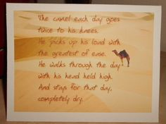 The Alcoholics Anonymous camel phrase on an by 12StepUnityGal, $5.00