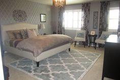 Looooove the rug Guest Bedrooms, Master Bedroom, Bedroom Ideas, Bedroom Decor, New Room, Soft Furnishings, My Dream Home, Bedroom Furniture, New Homes