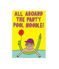 Greeting Card  All Aboard The Party Pool Noodle