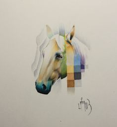 Creating the Psychodelic Glitch Horse | Copic