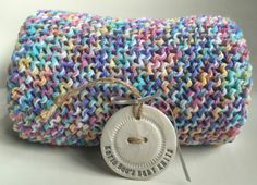 baby blanket hand knitted stroller blanket by Katiebeesknits