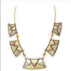 Authentic House of Harlow necklace Authentic Sancai Collar Necklace from House of Harlow1960. Tri-tone plated tribal stations necklace. Brand new and never worn. Comes with cloth case. I also have the matching bangle for sale. House of Harlow 1960 Jewelry Necklaces