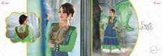 Designer Indian Salwar kameez with Bollywood actress Preity Zinta.
