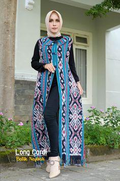 Batik Fashion, Hijab Fashion, Batik Muslim, Dress Batik Kombinasi, Outer Batik, Batik Dress, Cape, Casual, Style