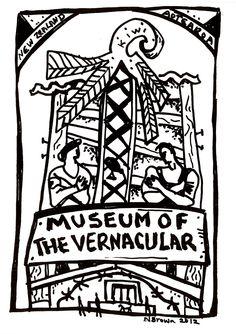 nigel-brown- Museum of the Vernacular(1748×2480) Elements: line, shape Principles: contrast, rhythm, pattern, unity