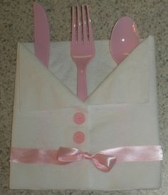The Napkin Baby Shirt Folding Technique- Great For Baby Showers!