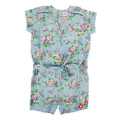 Jumpsuit short Flowers - KIK-KID Online - Kids Clothing - Kids Webshop - Goldfish.be