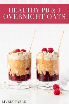 Skip the sugary jelly and make these healthy PB&J overnight oats instead! Made with real fruit, peanut butter, Greek yogurt and no added sugar, these make-ahead oats are a little taste of your childhood favorite, but all grown up! (gluten-free) Healthy Waffles, Healthy Breakfast Recipes, Best Overnight Oats Recipe, Peanut Butter Roll, Dairy Free Breakfasts, Healthy Gluten Free Recipes, Make Ahead Breakfast, Greek Yogurt, Meal Planning