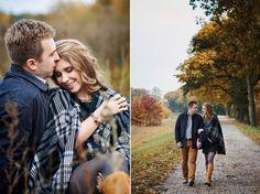 para podczas jesiennego spaceru - zdjęcia rodzinne