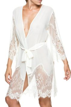 Ivory Lace - Dreamy Bridal Robes for Getting Wedding Ready - Photos