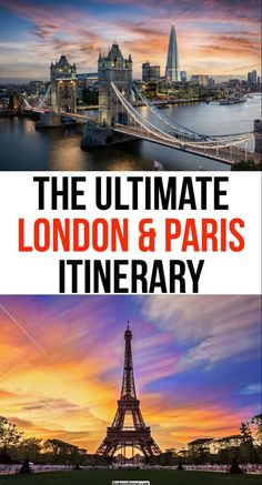 Planning a European trip & wanting to visit both London and Paris on the same trip!? Here you will find the ultimate London & Paris itinerary| Where to go and landmarks to visit in both London and Paris #london #england #paris #france #travel Hiking Europe, Road Trip Europe, Europe Travel Guide, Europe Destinations, France Travel, Travel Goals, Travel Advice, Travel Ideas, Travel Inspiration