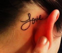Cute Short Life Quote Tattoos for Girls - Behind Ear Short Life Quote Tattoos for Girls - LoveItSoMuch.com