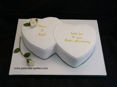 two hearts anniversary cakes - Google Search