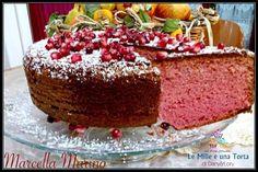 TORTA AL MELOGRANO SOFFICISSIMA - Le Mille Ricette Gateau Cake, Granny's Recipe, Sweet Corner, Best Italian Recipes, Beautiful Fruits, Chiffon Cake, Recipe Boards, Antipasto, I Foods