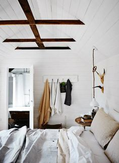 wooden beams are SO farmhouse chic
