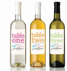 Wine Bottle Table Number Labels(DIGITAL FILE) on Etsy, $20.00