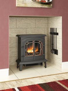 The LINCOLN is slimline to the extent of being only 275mm deep so it suits standard sized hearths and fireplaces.