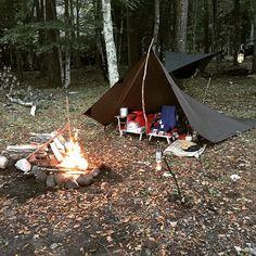 #ブッシュクラフト #bushcraft #野営キャンプ #ソロキャンプ #湖畔キャンプ #焚き火 #アウトドア #DDタープ #ハンモック