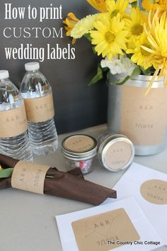 How to Print Custom Wedding Labels -- learn how to design and print your own custom wedding labels for any part of your ceremony or receptio...