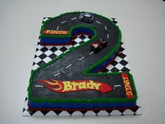 Racing Party Cake, but in the shape of a 5?