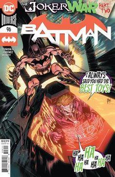 BATMAN #96 CVR A GUILLEM MARCH (JOKER WAR) Comic Books Art, Book Art, Dark Night, Death Metal, Gotham City, Cool Toys, Harley Quinn, Dc Comics, Joker