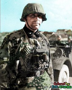 An SS junior officer from the 3rd SS Panzer Division Totenkopf. Unknown date for me. Initially the unit was established by recruiting guards from the concentration camps (SS Tontenkopfverbande) with the addition of officers from the SS-Verfügungstruppe (SS-VT) and men from SS-Heimwehr Danzig, later would be one of Germany's thoughest soldiers during WWII. But they weren't immediately deployed in the battlefield as they were a reserve unit during the French and the Low Countries Campaign…