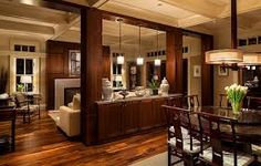Traditional Dining Design Ideas, Pictures, Remodel and Decor Home Renovation, Home Remodeling, Kitchen Open Concept, Demis Murs, Load Bearing Wall, Column Design, Half Walls, Dining Room Design, Dining Area