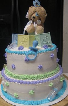 """""""Let me be surprised!"""" Baby shower cake"""