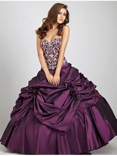 Purple Ball Gown Gothic Wedding Dress