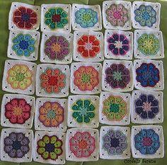 55 Ideas for crochet granny square pattern free african flowers Granny Square Pattern Free, Granny Square Häkelanleitung, Granny Squares, Free Pattern, Crochet Granny Square Afghan, Crochet Squares, Crochet African Flowers, Crochet Flowers, Crochet Birds