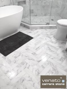 Posts about Room Scenes written by thebuilderdepot Master Bath Remodel, Master Bathroom, Carrara Marble Bathroom, Bathroom Remodel Pictures, Chevron Tile, Tub Shower Combo, Bathroom Design Luxury, Bathroom Countertops, Bathroom Renovations