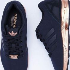 ISO: Adidas ZX Flux Black Copper Metallic Black Adidas with the copper soles. Adidas Shoes Sneakers