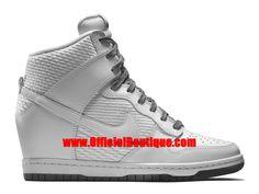 Chaussure Nike Basketball Pas Cher Pour Femme Nike Wmns Dunk Sky Hi Essential Blanc/Gris 644877-102