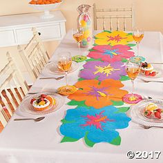 Hibiscus Table Runner