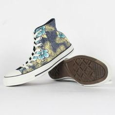 Amazon.com: Converse - Chuck Taylor All Star Hawaiian Print Hi Canvas Shoes in Navy: Shoes
