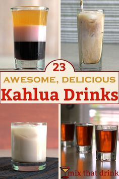 There's nothing else quite like the sweet coffee flavor of Kahlua. This collection of Kahlua drinks shows off the range and versatility of this delicious liqueur. We've got frozen drinks, shots, doubles and more. Liquor Drinks, Cocktail Drinks, Party Drinks, Fun Drinks, Yummy Drinks, Cocktail Desserts, Cold Drinks, Kahula Drinks, Alcoholic Drinks Kahlua