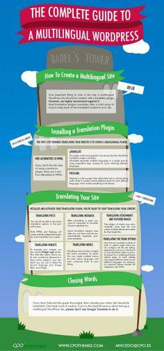 The complete guide to a multilingual WordPress #infografia #infographic #socialmedia