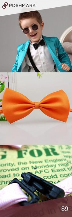 Boys Bow Tie Product specifications: 11 * 6CM (neck circumference 25-40CM). Color is orange Accessories Ties