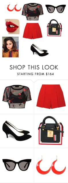 """""""Red day"""" by trixievogue on Polyvore featuring Alice + Olivia, Thom Browne and STELLA McCARTNEY"""