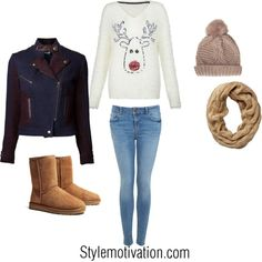 Another Christmas reindeer outfit love the sweater