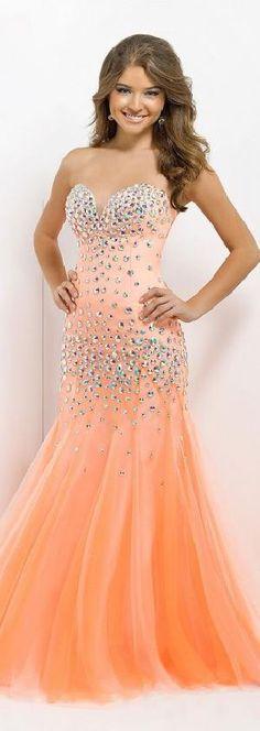 Embellished Mermaid Natural Sweetheart Floor Prom Dresses Sale kiyadresses25410ypolr #orange #promdress
