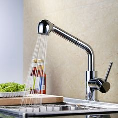 83.40$  Buy now - http://ali3my.worldwells.pw/go.php?t=32320768947 - Chrome Kitchen Faucet,Faucets For The Kitchen,Mixers For Kitchens,Taps For Kitchen Sink HG-10051