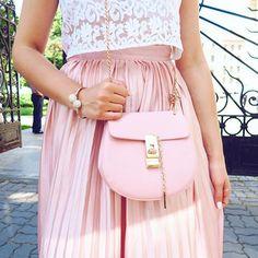 Chloe (inspired) #bag #pink #ootd