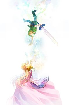 /Ocarina of Time/#1282852 - Zerochan | The Legend of Zelda: Ocarina of Time | Young Link and Princess Zelda