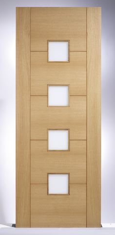 Internal Door Oak Vancouver Frosted Glazed Pre Finished Sliding Doors, Front Doors, Wooden Words, Modern Door, Main Door, Internal Doors, Door Design, Filing Cabinet, Extension Ideas
