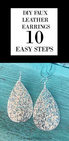 DIY Faux Leather Earrings - Hall Around Texas - cricut - Diy Leather Earrings, Leather Jewelry, Gold Earrings, Silver Jewelry, Fine Jewelry, Amber Jewelry, Jewelry Crafts, Handmade Jewelry, Earrings Handmade