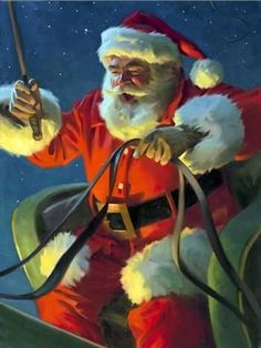 More great Santa art. Christmas Scenes, Father Christmas, Vintage Christmas Cards, Santa Christmas, Christmas Pictures, Xmas, Family Christmas, Santa Pictures, Santa Claus Is Coming To Town